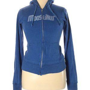 Moosejaw Blue Zip Up Hoodie Jacket